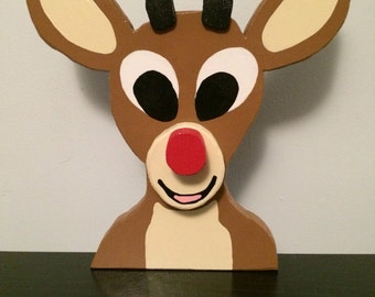 Rudolph the Red Nosed Reindeer Layered Wood Decoration