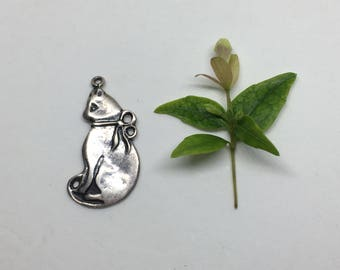 Cat Pendant - Sterling Silver