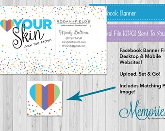 Rodan + Fields Facebook Banner & Profile Photo, R+F Facebook, Independent Consultant, Social Media Banner, Customized