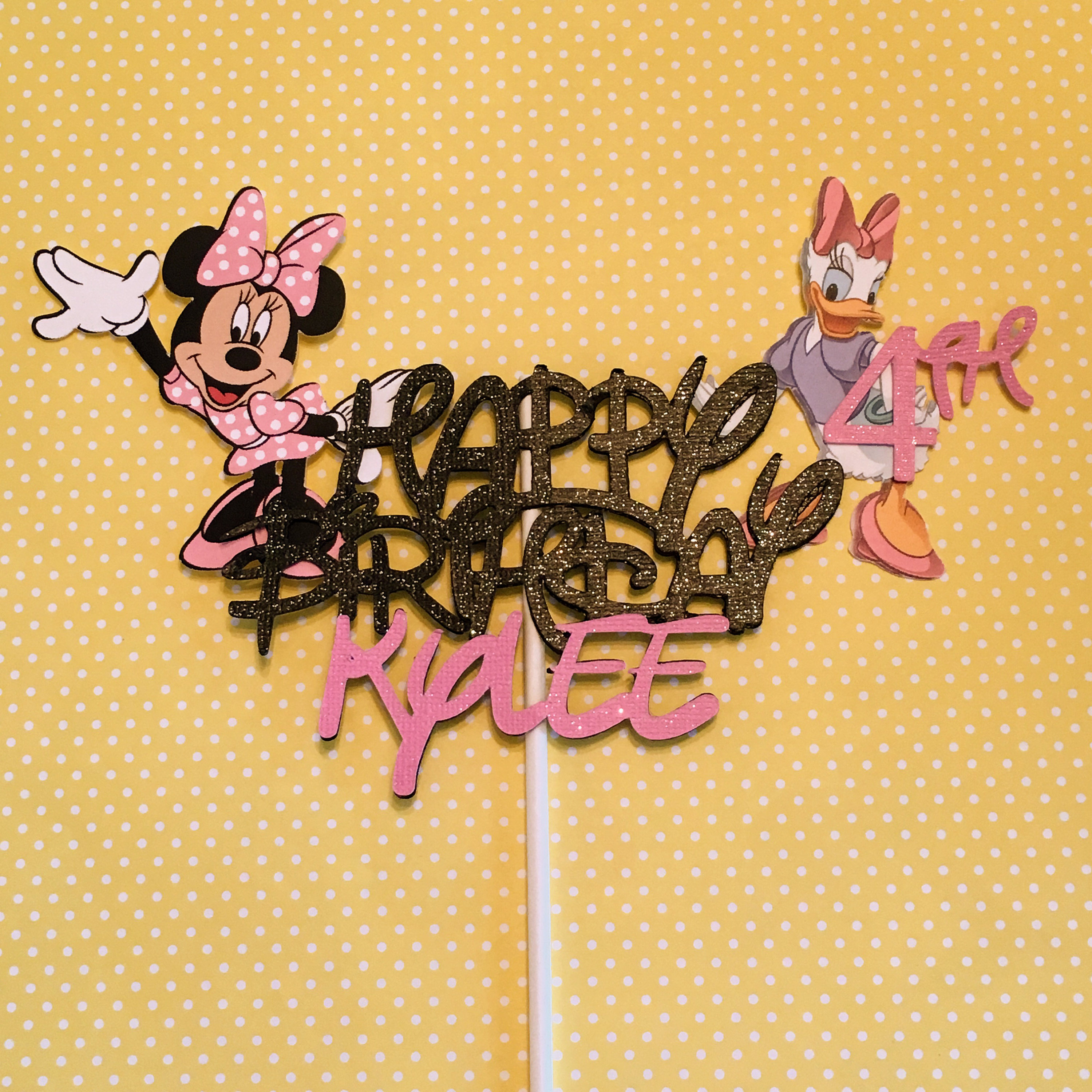 Minnie Mouse and Daisy Cake Topper Daisy Cake Topper Minnie