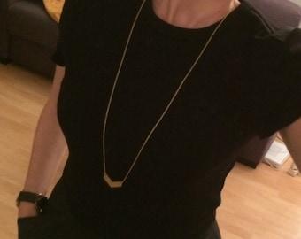 Chevron (gold) necklace