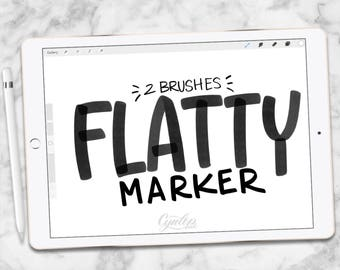 Procreate Brush : Flatty Marker