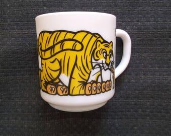 verre de lait cru tasse tiger Arcopal Safari France