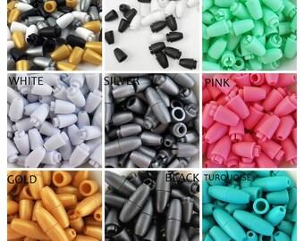 Plastic Safety Ferrules-safety latches for lactation collars-nursing necklaces-fermetures de sécurité-Sicherheitsschließungen