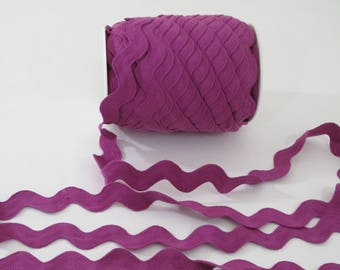 "Croquet Jumbo couture garniture Magenta violet Ric Rac, bordure en Serpentine, 1-7/16"" de large, 36 mm de large, 3 yards,"