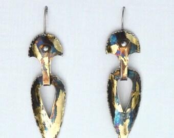 Spartan Daggers, Earrings, silver 925