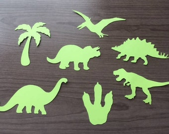 Cardstock Die Cut Dinosaur Decoration Pack