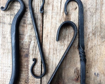 Hand forged iron hook - various designs