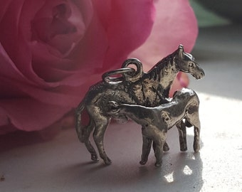 Mare & Foal Charm for bracelet or necklace