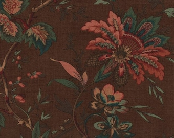 Moda Graces Garden 1820 1860 31550 12 Brown Assorted Flowers By The Yard