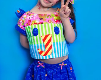 the Zou Playset  Crop Top & Bubble Culottes PDF Sewing Pattern Bundle!