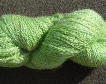 """Yarn - """"Irish spring"""" handspun, 100 g, 290 m 2 ply - BFL/nylon"""