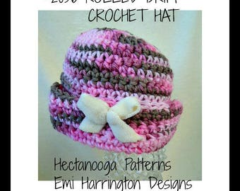 special offer-crochet hat pattern, rolled brim hat, crochet pattern, hat crochet pattern, #2056, girls hats, kids, adults, teens, toddlers