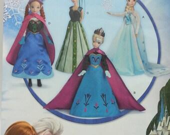 """Disney Frozen 11 1/2"""" inch Doll Cloths Pattern Simplicity 1234 Disney 11 1/2 inch fashion doll cloths"""