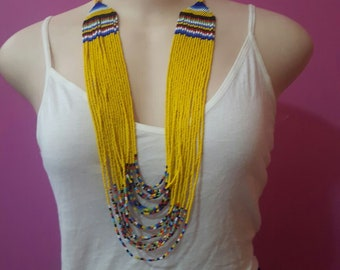 maasai necklace / beaded necklace / colorful necklace / african necklace