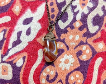 Carnelian and Copper Pendant