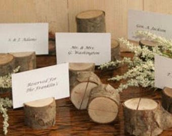 15 pack Wooden card holders for weddings or photos