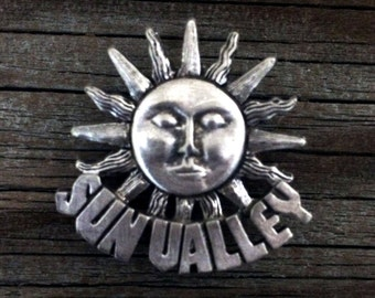 Sun Valley Idaho Metal Pin | SunValley Jewelry | Sun Valley Jewelry | Handcrafted Jewelry | Idaho Souvenir | by Treasure Cast Pewter