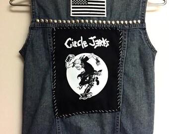 Circle Jerks Denim Punk Vest ~ Size 4T