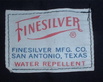 US Army Poly/Cotton black windbreaker size medium, Finesilver 1979