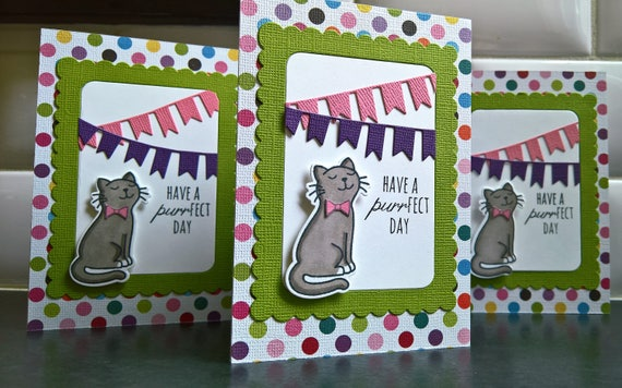 Cat Lover Birthday Card Cat Card Cat Greeting Card Happy