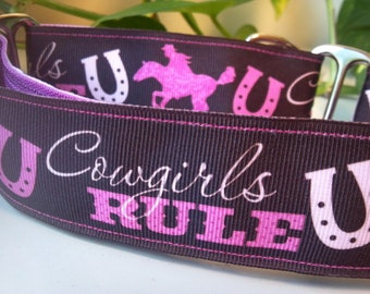"""Lyla is a Cowgirl - 1.5"""" Martingale Collar"""