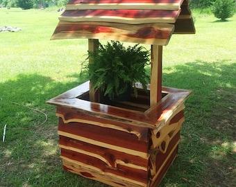 Live Edge Red Cedar Planter, outdoor furniture