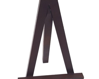 Brown Wood Easel Stand 8 1/4 x 4 3/4
