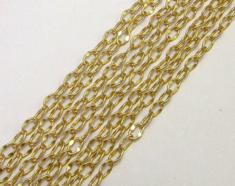 Crimped Ovals Chain Soldered Satin Hamilton Gold 6' AG187