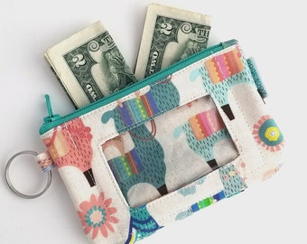 Llama Gifts for Women - Llama Wallet - Student ID Wallet - College Student Gift for Her