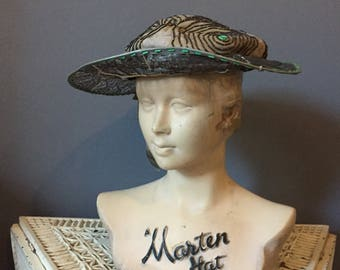 1920s hat with wide brim