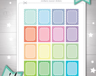Full box stickers Bullet Journal Printable planner stickers Erin Condren basic stickers Simple planner stickers Functional stickers cute