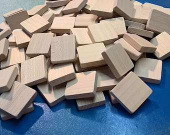 Blank Scrabble Tiles (lot of 120) Unmarked
