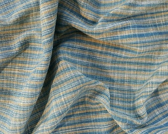 hand woven natural indigo dyed cotton fabric by the meter (HTH6)