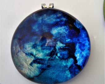 Alcohol Ink treated Pendant