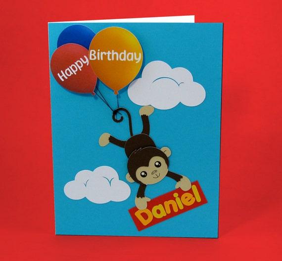 Personalized Pop Up Birthday Card For Kids Handmade Birthday