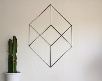 Geometric Retro Modern Metal Sculpture Art Abstract Mid Century Contemporary Wall Decor Modernist 50s 60s by Petrykowski Artworks