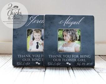 Ring Bearer & Flower Girl Picture Frames (Set of 2), Wedding Keepsake, Flower Girl Gift, Ring Bearer Gift
