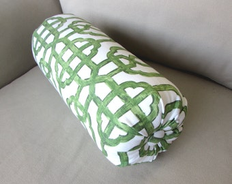 IMPERIAL JADE green accent lumbar throw Bolster Pillow 6x14 6x18 6x20 6x22