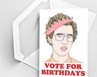 Napoleon dynamite etsy birthday card vote for birthdays birthday card napoleon dynamite inspired funny birthday greeting card bookmarktalkfo Choice Image