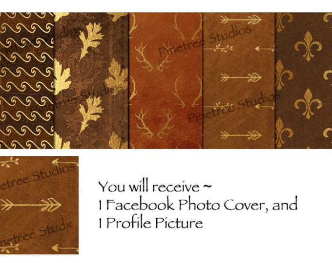 Autumn, A Touch of Gold ~ Facebook Blank Cover Photo and Profile Picture