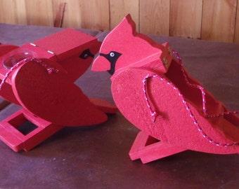 Handcrafted bird feeders