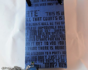 Dr Who Tardis Necklace with free gift bag.
