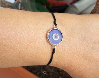 Evil Eye Bracelet, rope bracelet , stylish bracelet,  luck bracelet, Protection,  black bracelet, string bracelet, gift for man and women