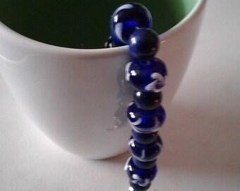 Blue with white bracelet