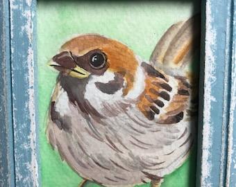 Mini Bird Watercolor Painting