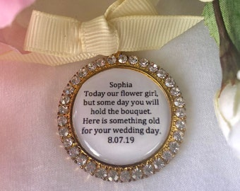 Gold Bling Flowers Girl Charm