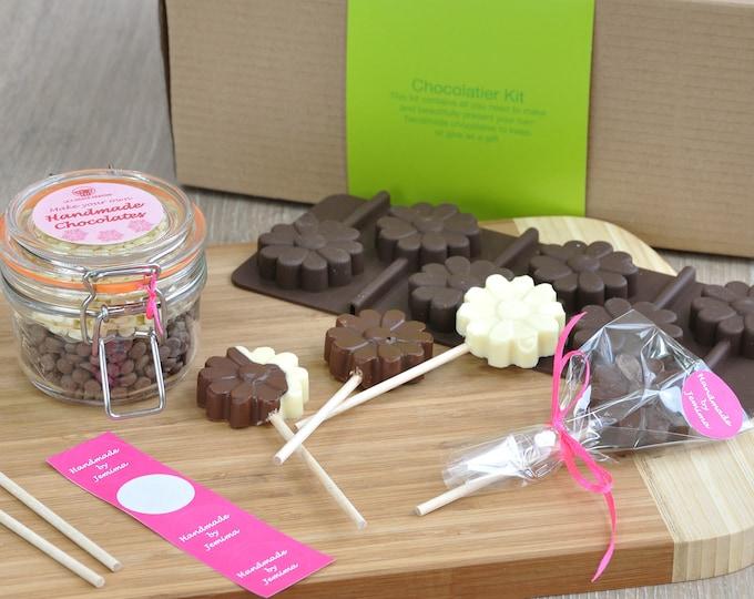 Personalised Chocolate Flowers Lollipops, school hols, holiday activity, Mothers Day choc, handmade for mum, nana grandma mummy gift,