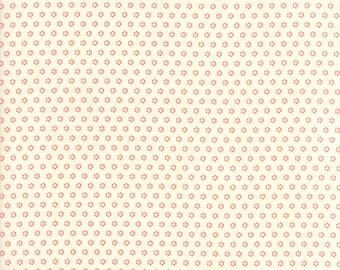 Fig Tree Fabric - Hazel and Plum Fabric - Cream Fig Tree Quilt Fabric - Red and Cream Quilting Fabric By The 1/2 Yard