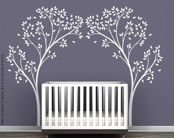 White Tree Canopy Portal Wall Decal by LittleLion Studio